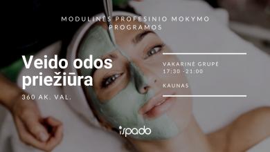 Veido odos priežiūra – modulinė profesinio mokymo programa